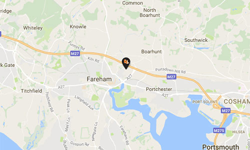 Fareham Office Map