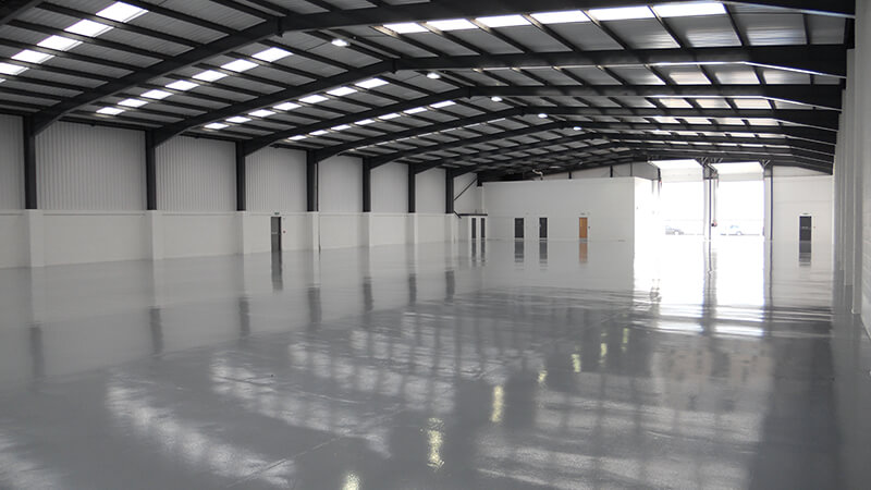 Inside view of Warehouse Space