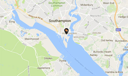Southampton Office Map
